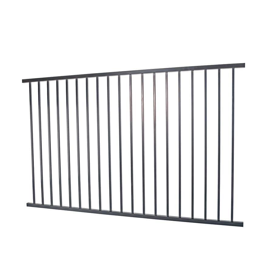 (Actual: 4.96-ft x 7.95-ft) Monroe Black Steel Decorative Fence Panel