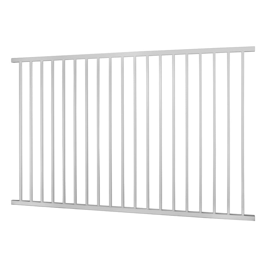 Monroe White Steel Decorative Fence Panel (Common: 5-ft x 8-ft; Actual: 4.96-ft x 7.95-ft)
