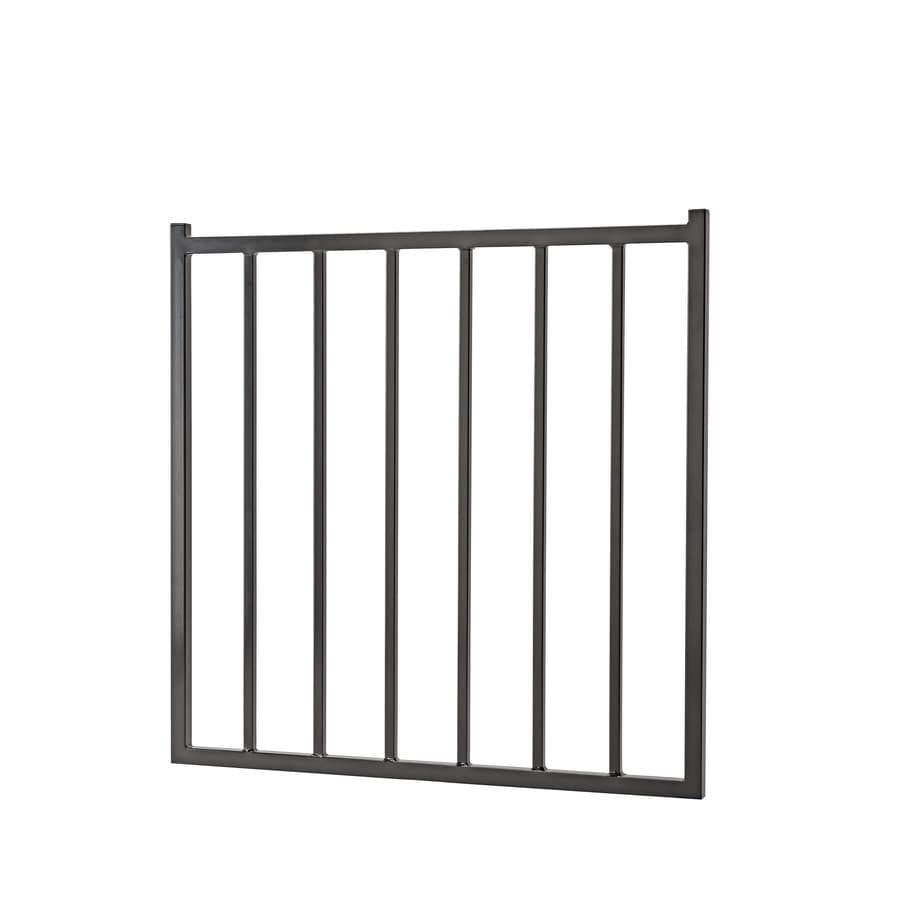 (Common: 3-ft x 3-ft; Actual: 2.66-ft x 2.75-ft) Powder Coated Steel Decorative Fence Gate