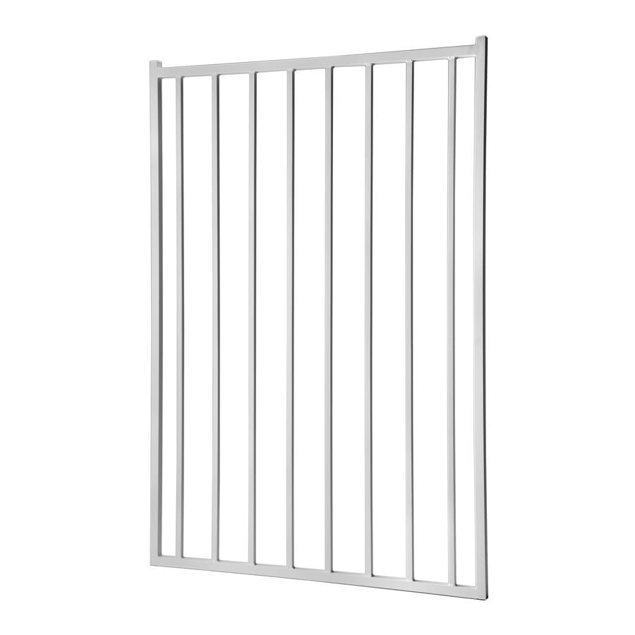 Powder Coated Steel Decorative Fence Gate (Common: 5-ft x 3.5-ft; Actual: 4.83-ft x 3.25-ft)