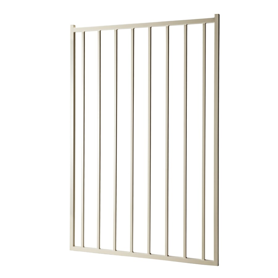 (Common: 5-ft x 3.5-ft; Actual: 4.83-ft x 3.25-ft) Powder Coated Steel Decorative Fence Gate