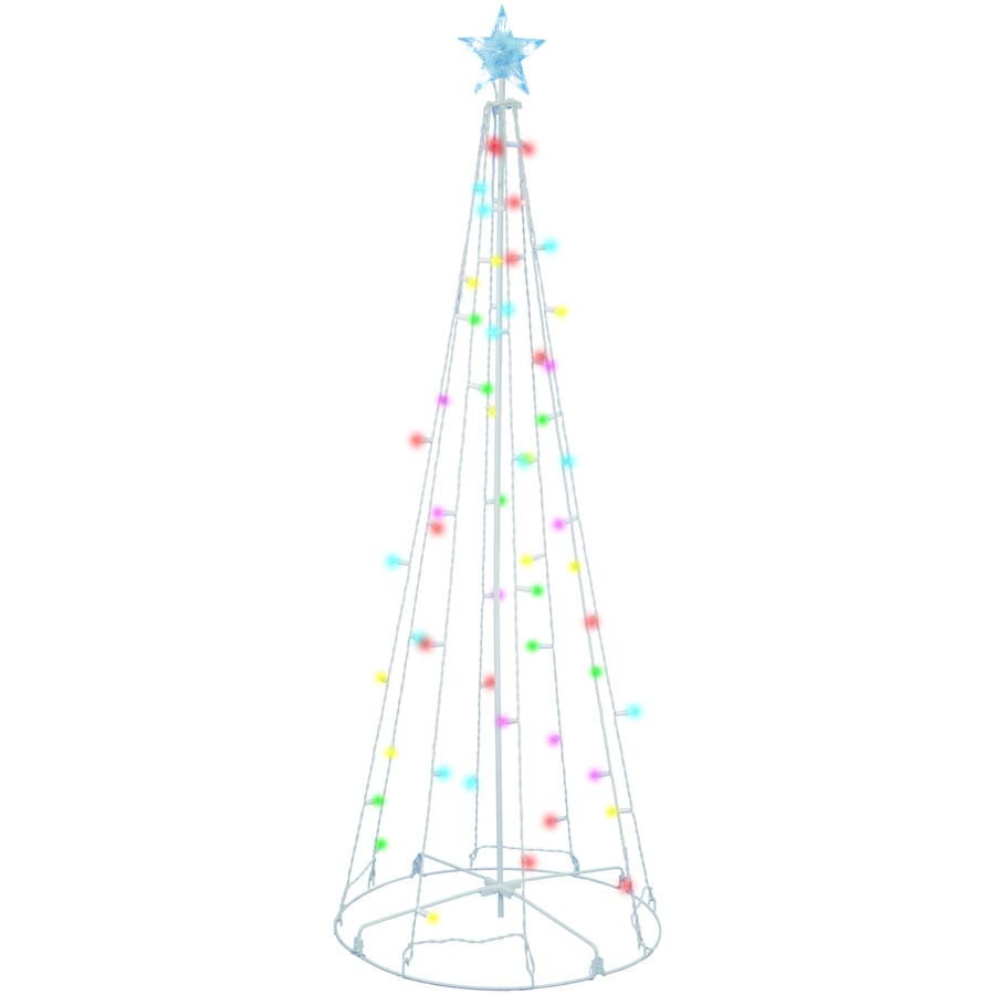 Holiday Living Tree Sculpture with Twinkling Multicolor Lights