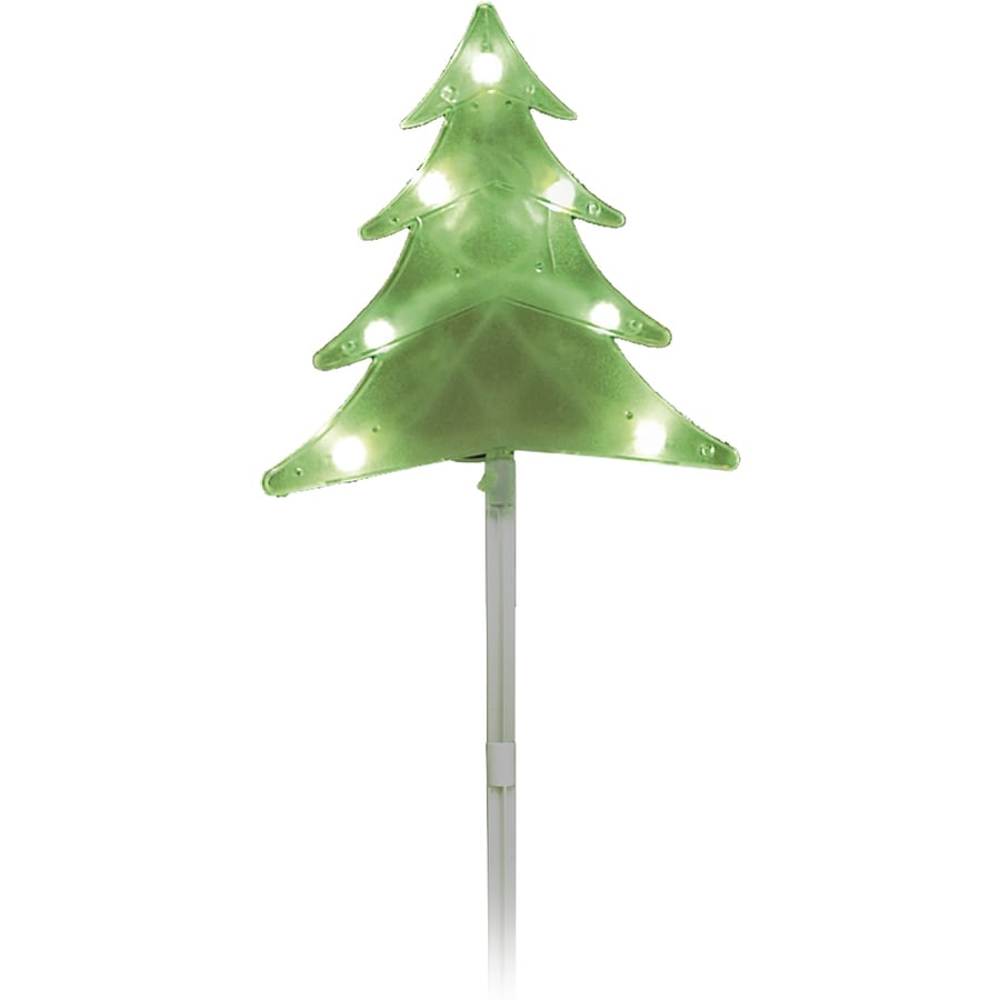 Sienna 5-Marker Green Incandescent Plug-In Christmas Tree Christmas Pathway Markers