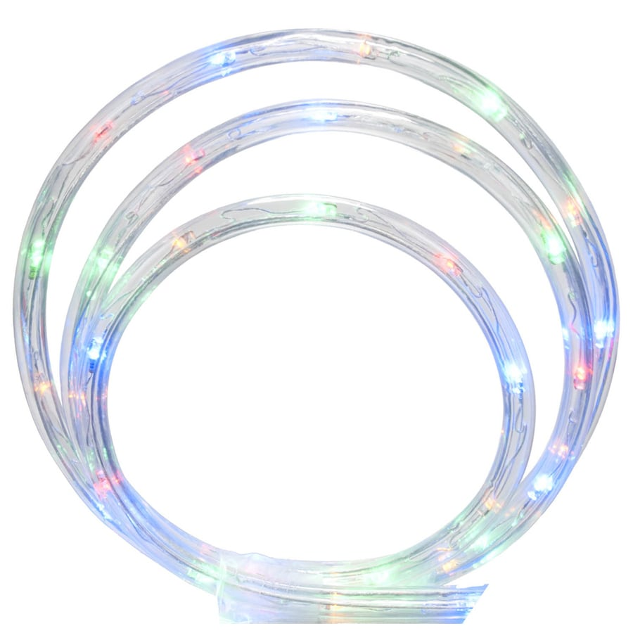 Sienna 108-Count 18-ft Constant White LED Plug-In Christmas Rope Lights with Clear Tubing