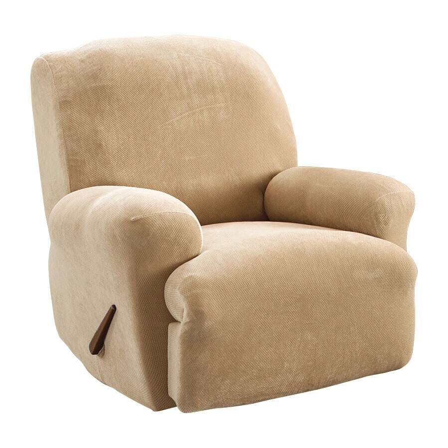 Stretch Pique Cream Velvet Recliner Slipcover  sc 1 st  Loweu0027s & Shop Slipcovers at Lowes.com islam-shia.org