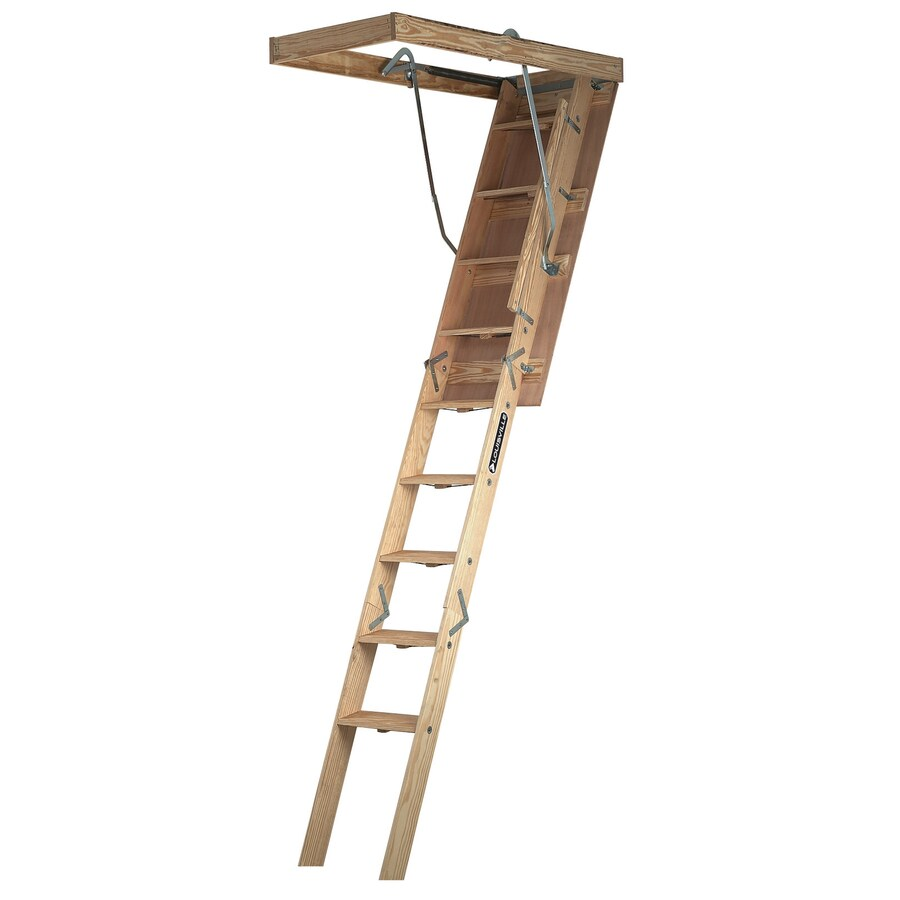 Louisville Champion 8-ft to 10-ft Type IA Wood Attic Ladder