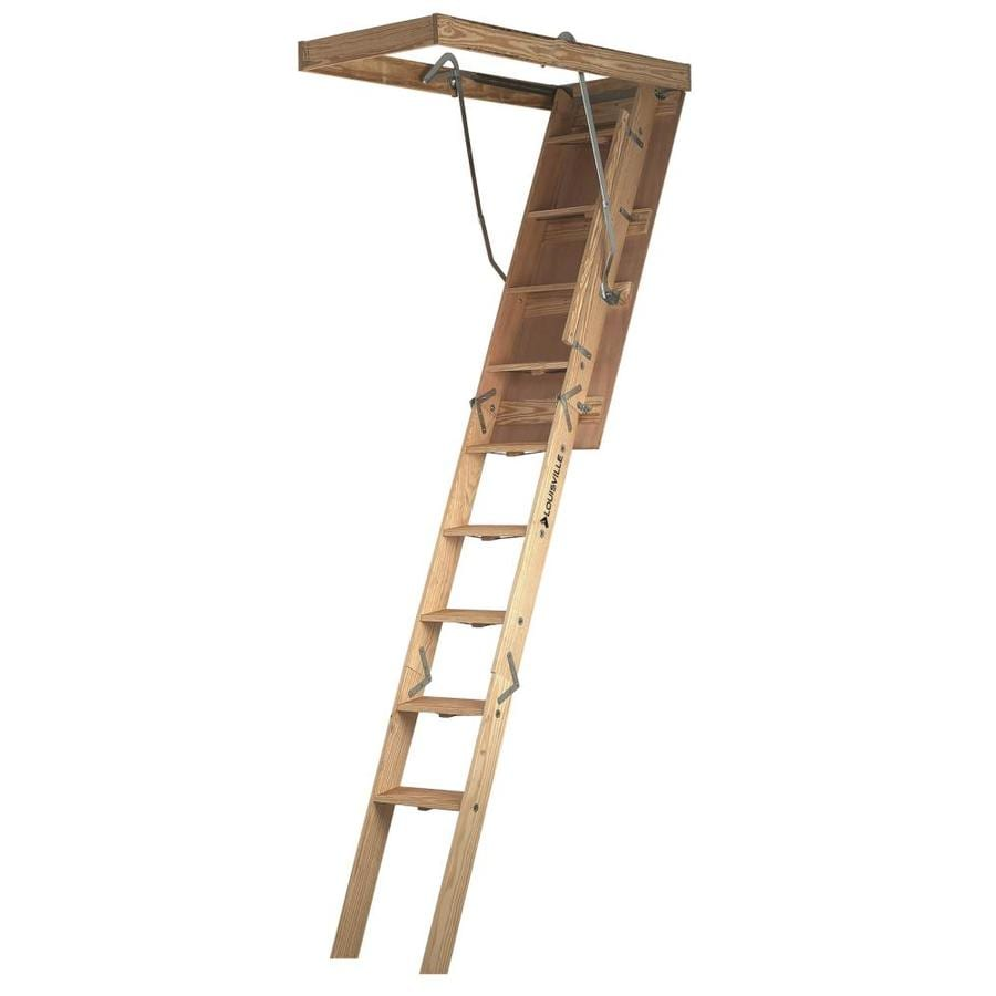 Louisville Champion 7-ft to 8-ft Type IA Wood Attic Ladder