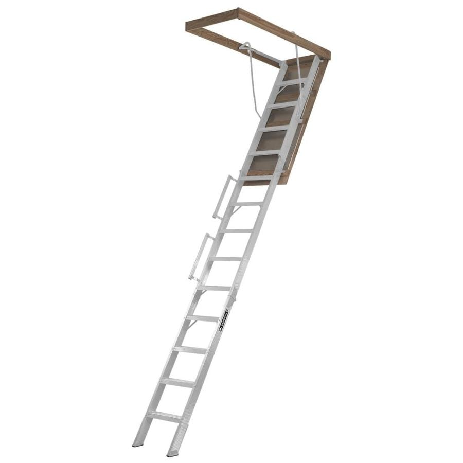 Louisville Everest 10-ft to 12-ft Type IA Aluminum Attic Ladder