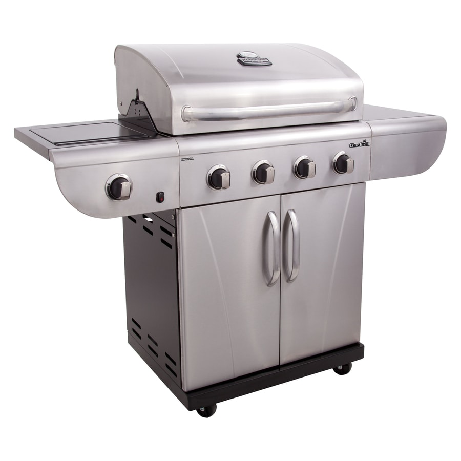 shop char broil commercial 4 burner 40 000 btu liquid propane and natural gas grill with side. Black Bedroom Furniture Sets. Home Design Ideas
