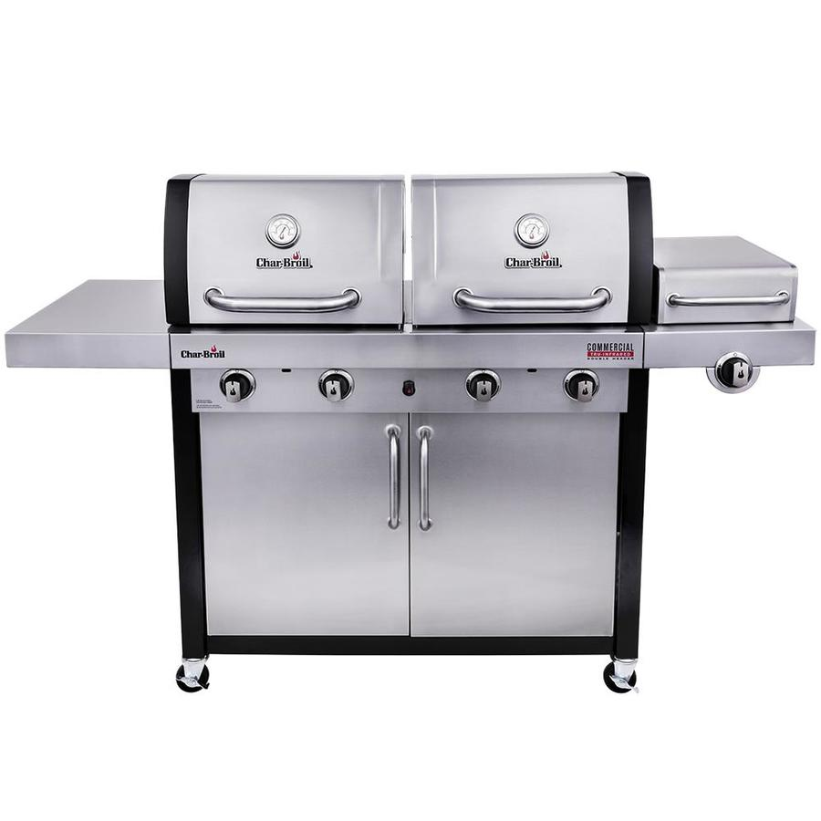 Char Broil Commercial Stainless/Black 4 Burner Liquid Propane And Natural  Gas Infrared