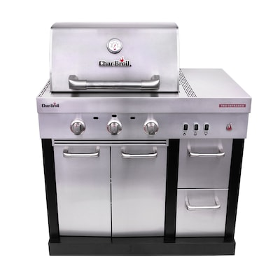 Char Broil Medallion 39 4 In W X 26 5 In D X 47 5 In H Outdoor Kitchen Gas Grill With 3 Burners In The Modular Outdoor Kitchens Department At Lowes Com