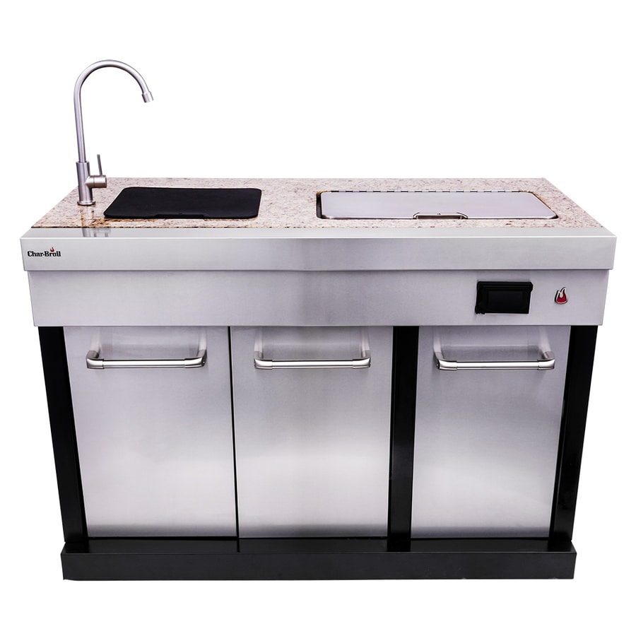 Shop char broil modular outdoor sink and cooler at for Drop in cooler for outdoor kitchen