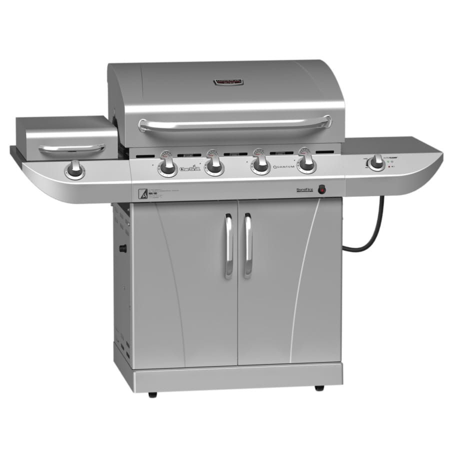 Char-Broil Commercial 4-Burner (40,000-BTU) Natural Gas or Liquid Propane Gas Grill with Side Burner