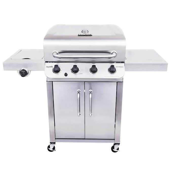Char-Broil Performance Stainless 4-Burner Liquid Propane Gas Grill with 1 Side Burner
