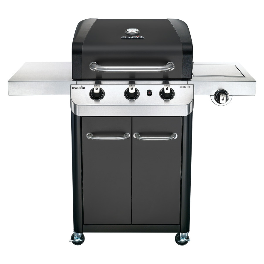 Shop Char Broil Black And Stainless Steel 3 Burner Liquid