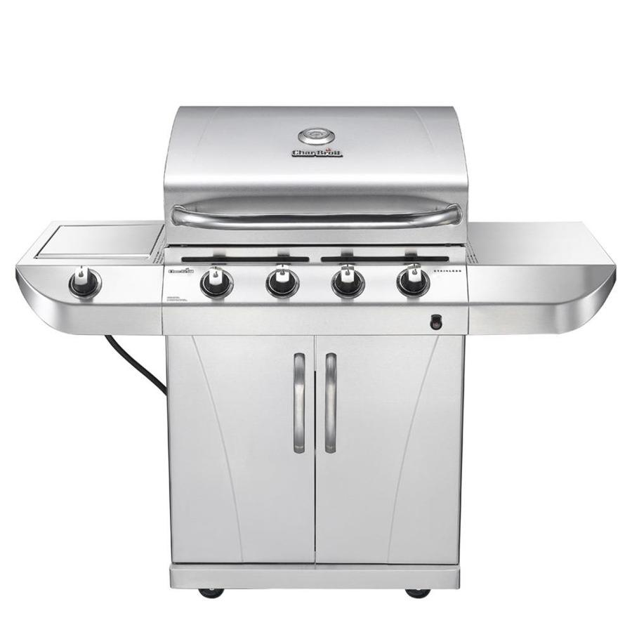 Char broil commercial series gas grill - Char Broil Stainless Stainless 4 Burner 34 000 Btu Liquid Propane Gas