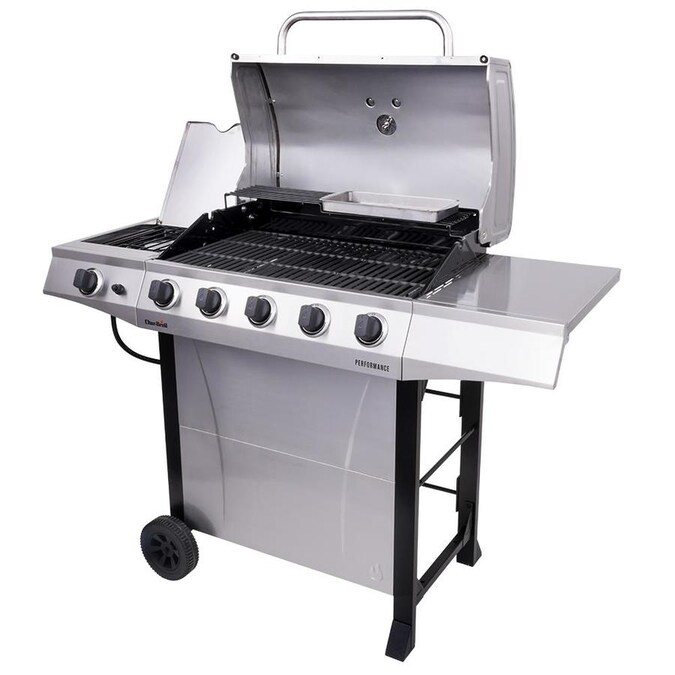LOWE'S : Char-Broil Performance Silver 5-Burner Liquid Propane Gas Grill with 1 Side Burner $199.00