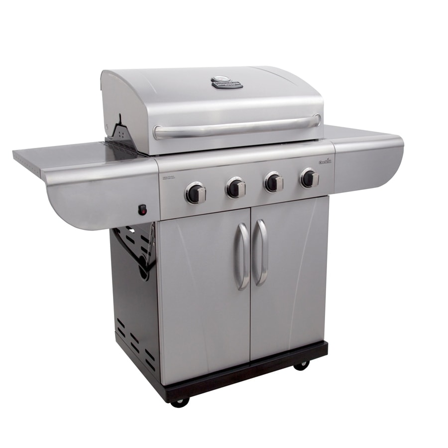 Char-Broil Commercial Stainless Steel and Black 4-Burner (40,000-BTU) Liquid Propane Gas Grill