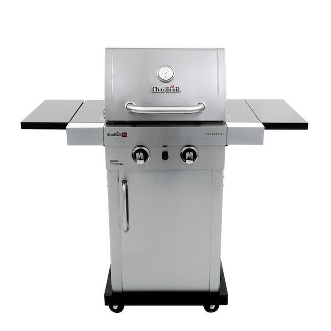Char Broil Commercial Stainless 2 Burner Liquid Propane And Natural Gas Infrared Gas Grill In The Gas Grills Department At Lowes Com