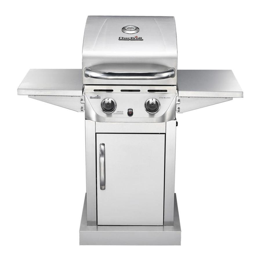 shop char broil stainless stainless 2 burner 20 000 btu liquid propane gas grill at. Black Bedroom Furniture Sets. Home Design Ideas