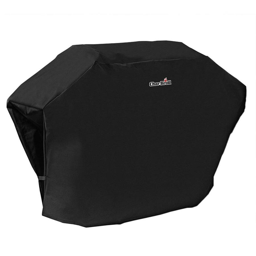Char-Broil Rip-Stop 72-in x 44-in Black Polyester Gas Grill Cover Fits Models Fits most