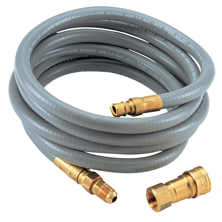 Char-Broil 3/8-in 0.37-in x 10-ft Male-Female Quick-Connect Natural Gas Hose