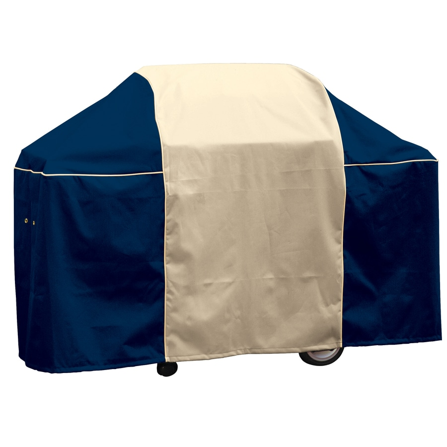 Char-Broil 65-in x 44-in Coastal Blue Polyester Gas Grill Cover