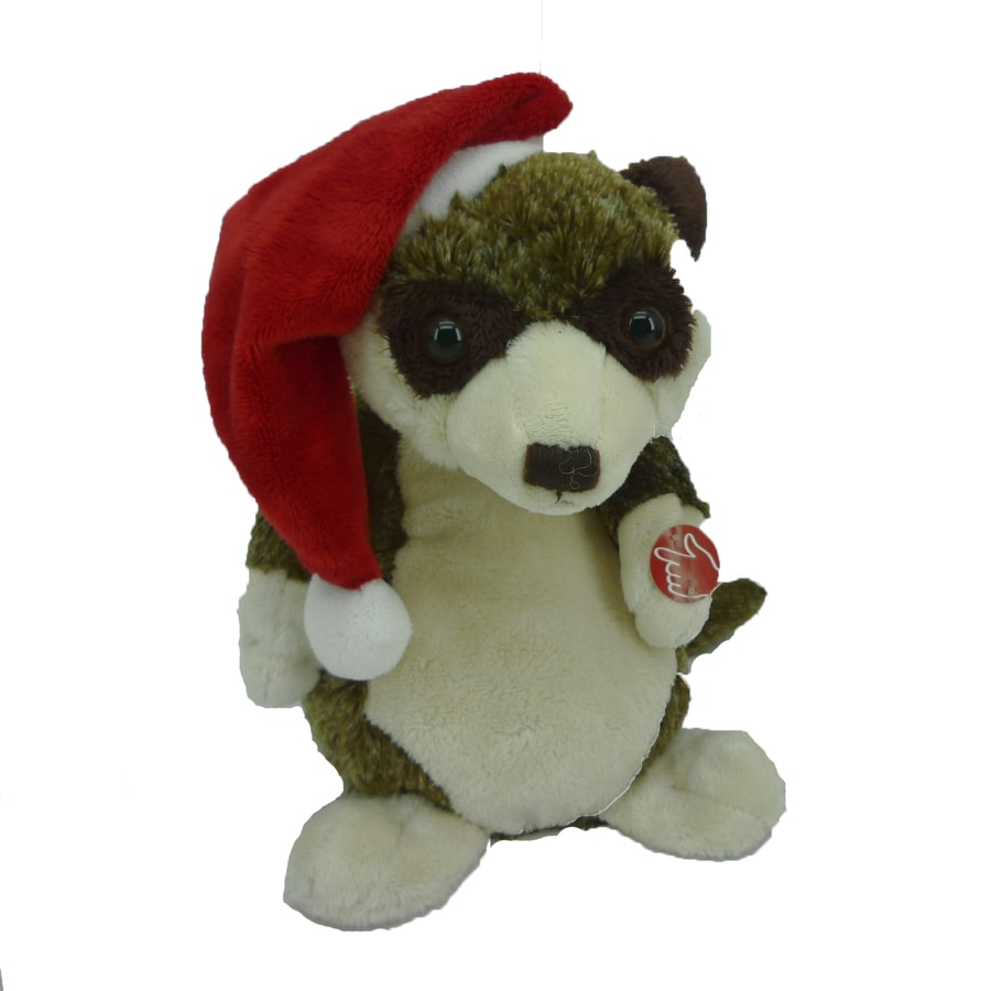 Holiday Living Christmas Polyester Musical Animated Meerkat