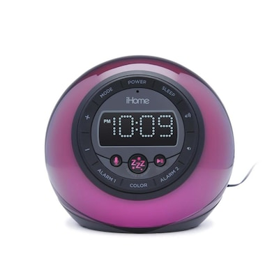 IHome App-Enhanced Bluetooth Color Changing Dual Alarm Clock