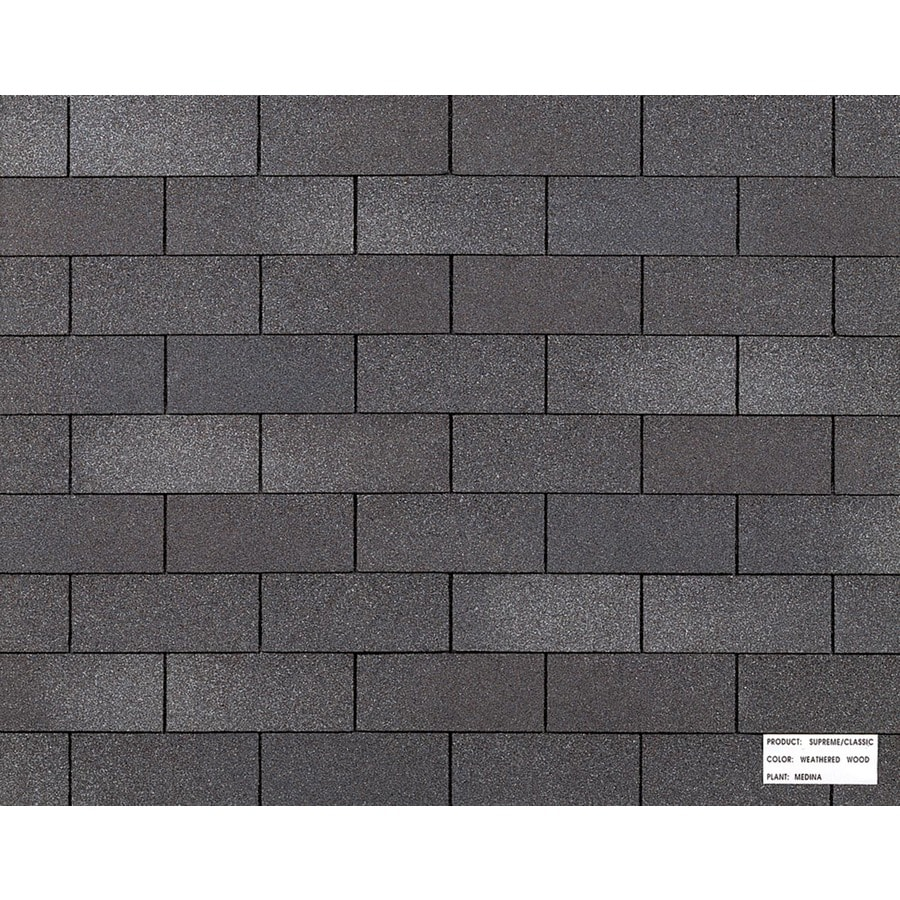 Owens Corning Classic 3333 Sq Ft Weathered Wood Traditional 3 Tab Roof Shingles