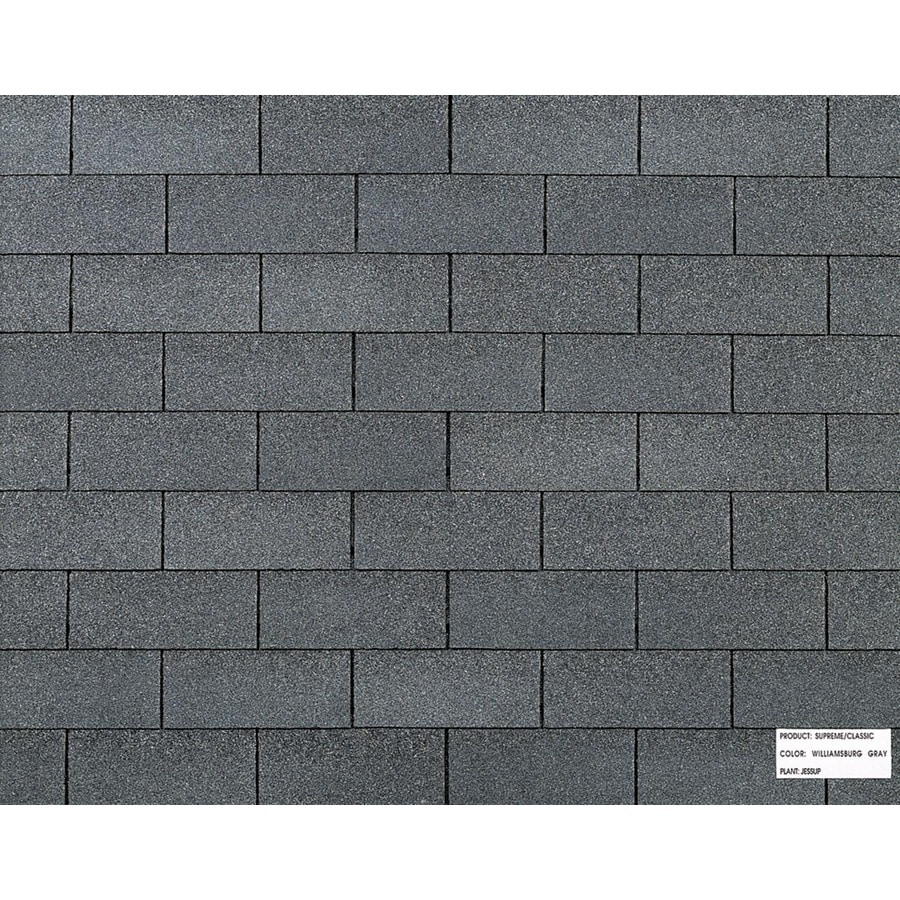 Shop owens corning classic ft williamsburg gray for Classic shingles