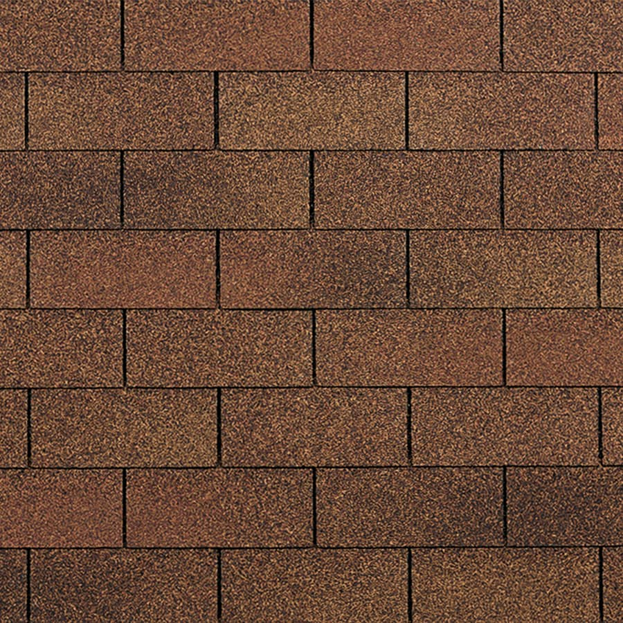Owens Corning Supreme 33.33 Sq Ft Autumn Brown 3 Tab Roof Shingles