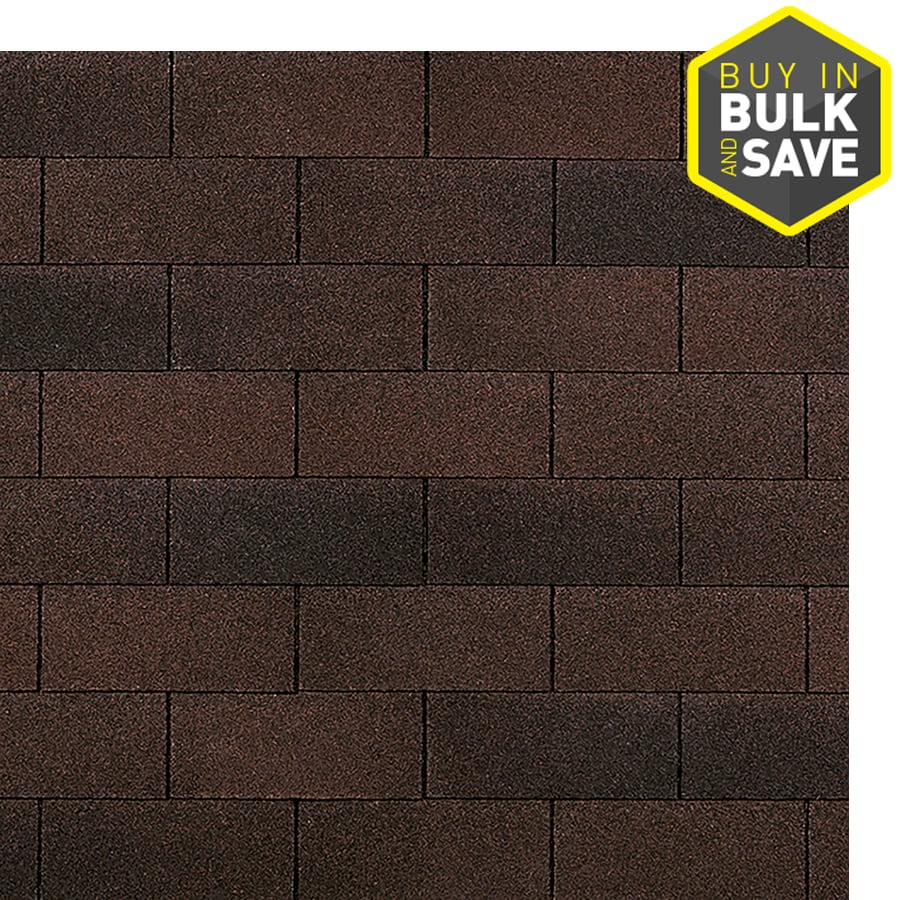 Owens Corning Supreme 33.3-sq ft Bark Brown Traditional 3-Tab Roof Shingles