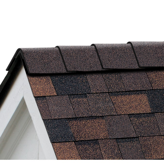 Owens Corning High Ridge 21 3 Lin Ft Brownwood Hip And Ridge Roof Shingles At Lowes Com