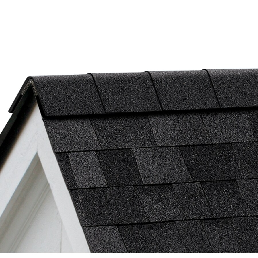 Owens Corning WeatherGuard HP 32.5-lin ft Onyx Black Hip and Ridge Roof Shingles