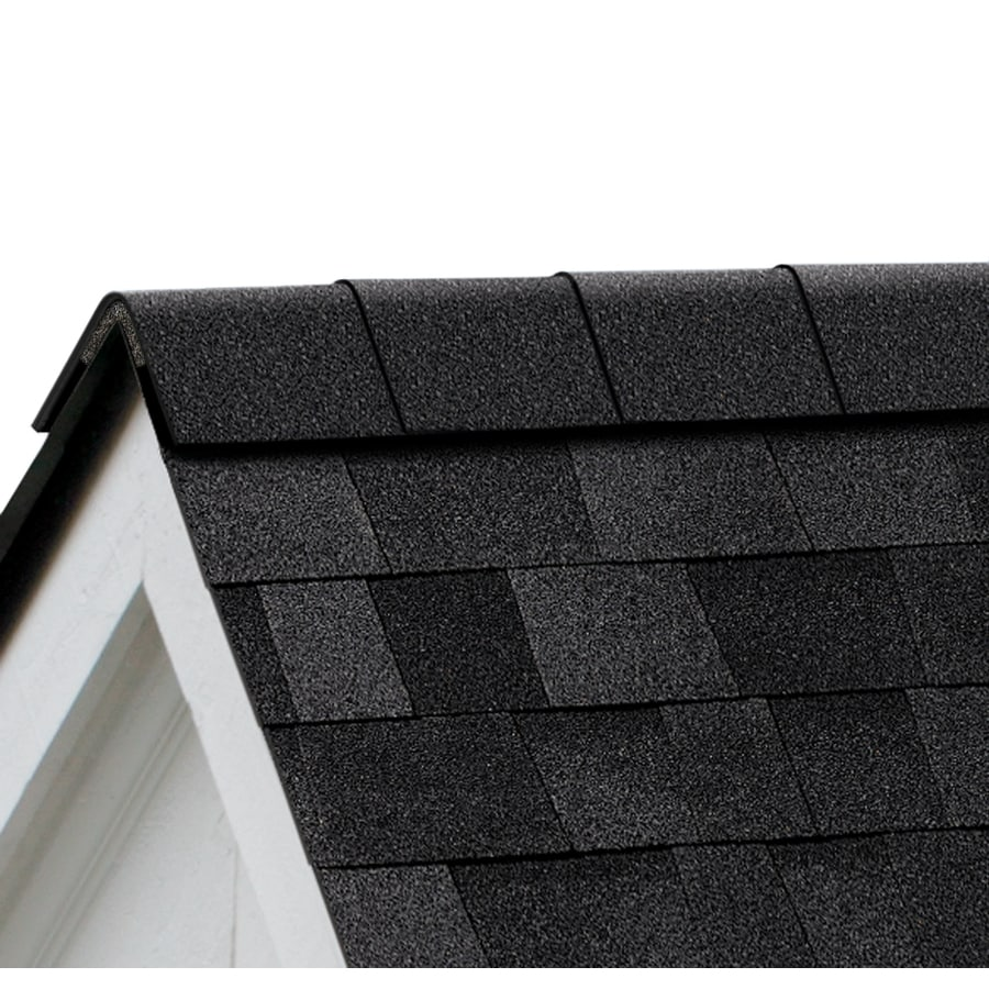 Owens Corning Perforated 33.75-lin ft Onyx Black Hip and Ridge Roof Shingles
