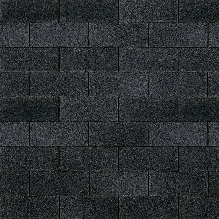 Owens Corning Supreme 33.33-sq ft Onyx Black Traditional 3-Tab Roof Shingles