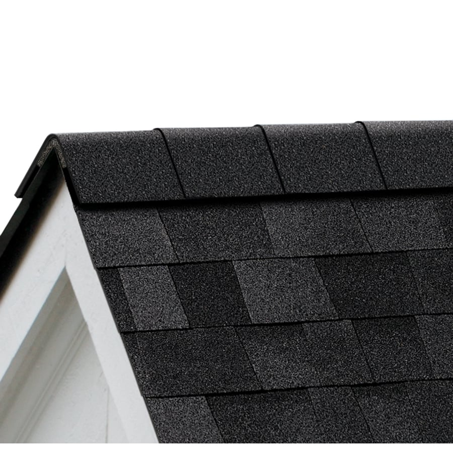Owens Corning ProEdge Storm 33-lin ft Onyx Black Hip and Ridge Roof Shingles