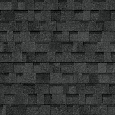 Oakridge 32 8 Sq Ft Twilight Black Algae Resistant Laminated Architectural Roof Shingles