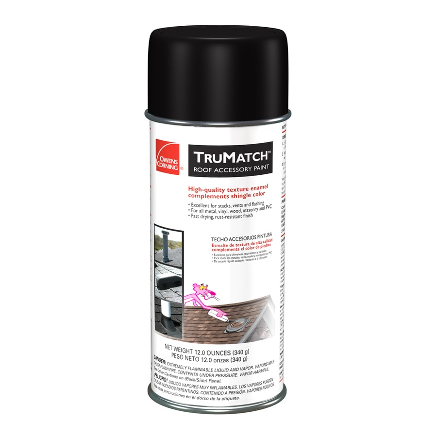 Owens Corning TruMatch Onyx Black Rust Resistant Enamel Spray Paint (Actual Net Contents: 12-oz)