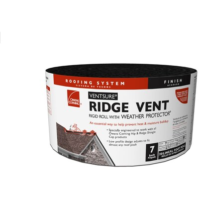Owens Corning Ventsure 7 In X 240 In Black Plastic Roll Roof