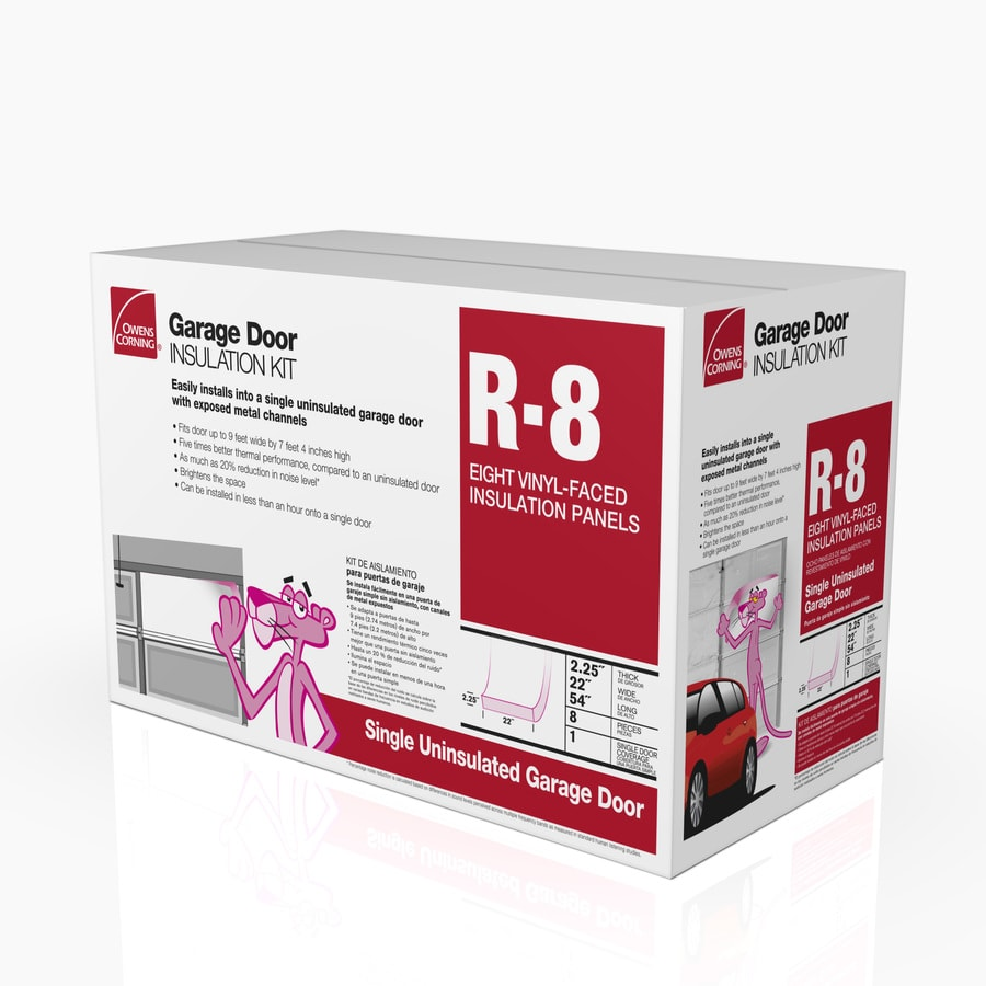 Owens Corning Garage Door Insulation Kit R 8 66 Sq Ft Single Faced  Fiberglass