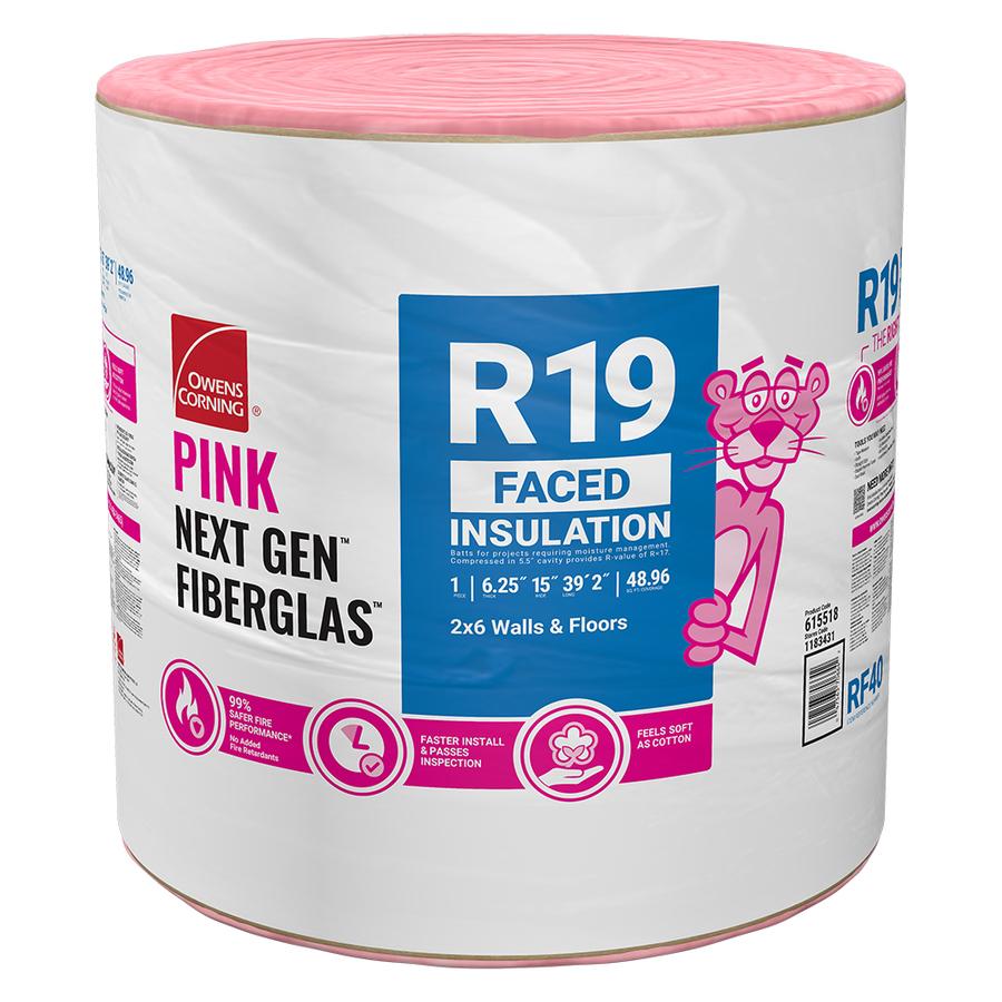 "1/"" x 3/' Fiberglass Pipe Insulation Self Seal   fiber glass Owens Corning TEN"