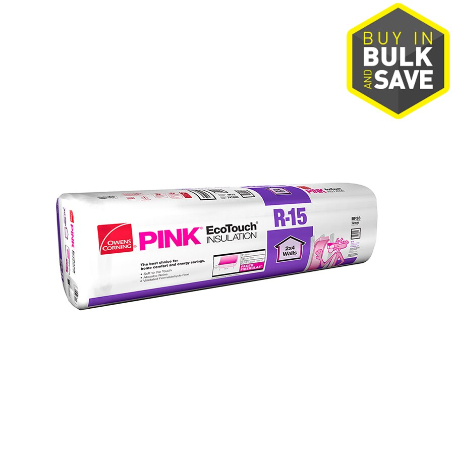 Owens Corning R15 67.81-sq ft Faced Fiberglass Batt Insulation with Sound Barrier (15-in W x 93-in L)