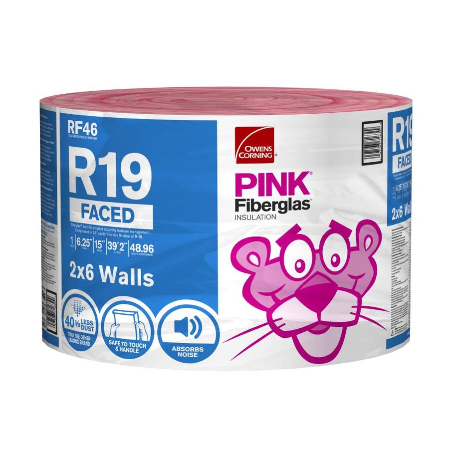 Owens Corning R-19 48.96-sq ft Single Faced Fiberglass Roll Insulation with with Sound Barrier (15-in W x 39.2-ft L)