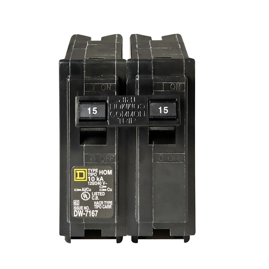Square D Homeline 15-Amp 2-Pole Double-pole Circuit Breaker