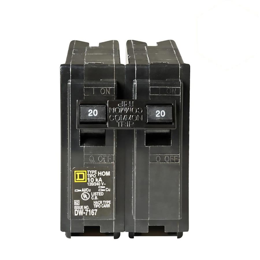 Shop Circuit Breakers At 20 Amp Gfci On 15 Square D Homeline 2 Pole Standard Trip Breaker