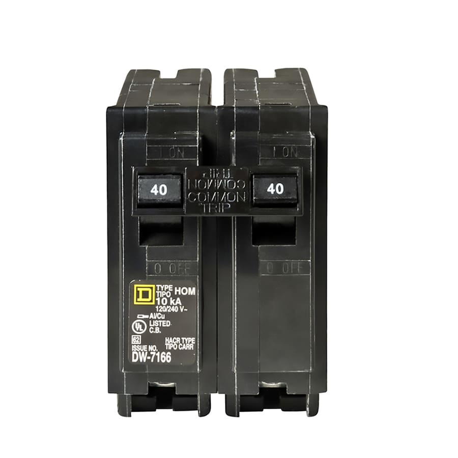 Square D Homeline 40-Amp 2-Pole Double-Pole Circuit Breaker