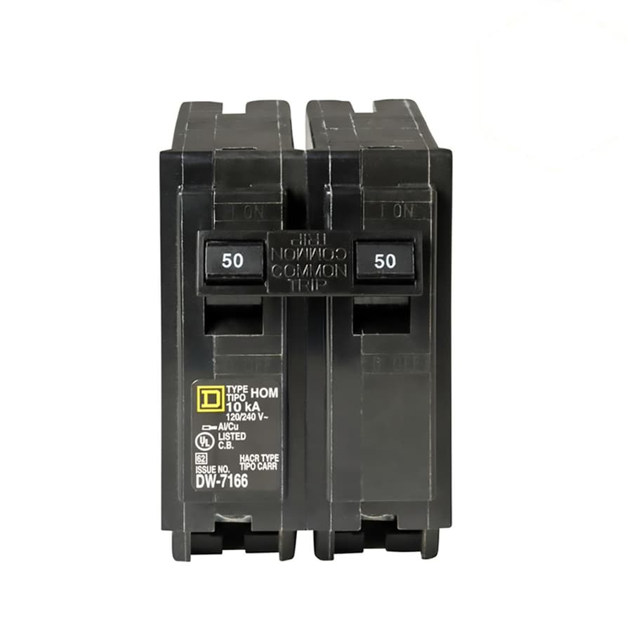 Square D Homeline 50-Amp 2-Pole Circuit Breaker