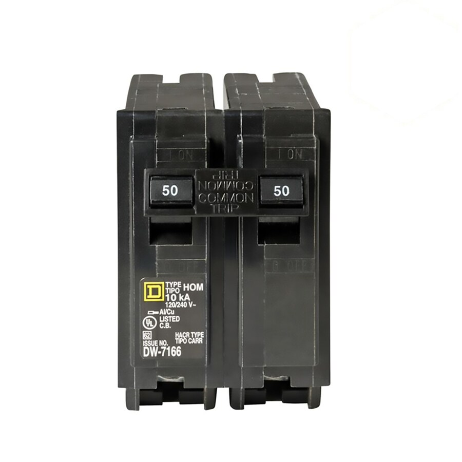047569062797 shop square d homeline 50 amp 2 pole double pole circuit breaker  at readyjetset.co